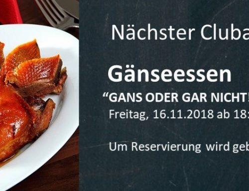 Clubabend Gänseessen am 16.11.2018