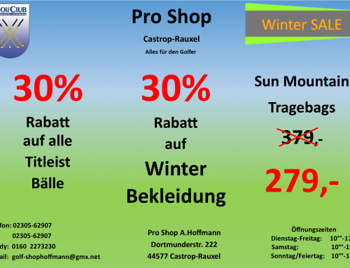 Novemberangebote Pro Shop